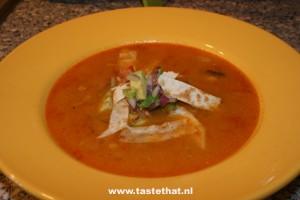 Mexicaanse-tortillasoep